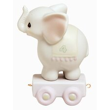 """Birthday Train May Your Birthday Be Gigantic"" Elephant Figurine"
