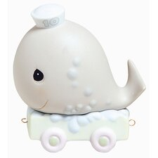 """Birthday Train May Your Birthday Be Mammoth"" Whale Figurine"
