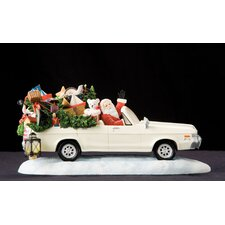 """Christmas Eve Drive"" Limited Edition Santa Waiving in Cruiser Figurine"
