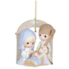 """Unto Us A Child Is Born"" Nativity Ornament"
