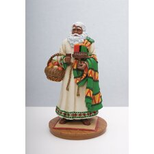 """African American Santa"" Limited Edition African American Santa Figurine"