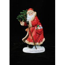 """Switzerland"" Switzerland Santa Figurine"