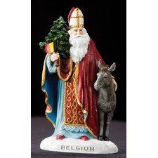 """""""Belgium"""" Belgium Santa Figurine"""