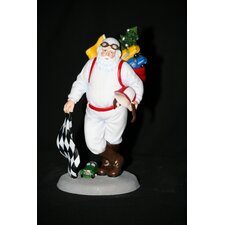 "<strong>Precious Moments</strong> ""Santa's Speedway"" Racing Santa Figurine"
