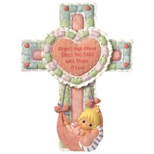 Precious Little Blessings Baby Girl Cross Figurine with Stand