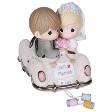 "Wedding ""Just Married"" Couple in a Car Figurine"