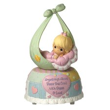 Precious Little Blessings Baby Girl Musical Figurine