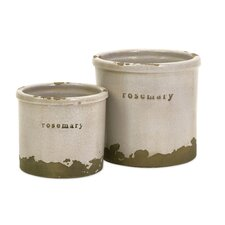 <strong>IMAX</strong> Rosemary Herb Pots (Set of 2)