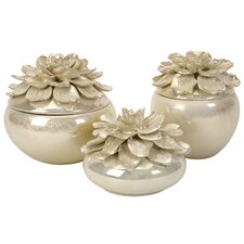 Blair Hand - Sculpted Floral Boxes (Set of 3)