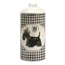 Dog Large Canister with Lid