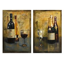 Corbeau Vino Oil Painting (Set of 2)
