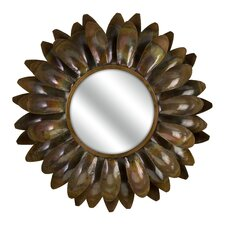 "20.5"" H x 20.5"" W Carrow Medium Flower Mirror"