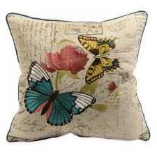 <strong>IMAX</strong> Margaret Embroidered Butterfly Pillow