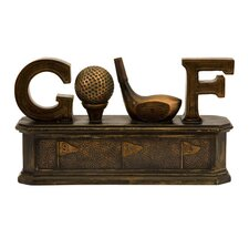 Golf Box Figurine