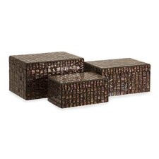 <strong>IMAX</strong> Orchid Mosaic Boxes (Set of 3)
