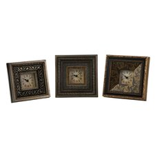 Regency Three Piece Framed Clock Set