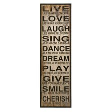 Live Love Laugh Textual Plaque
