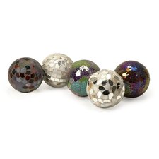 <strong>IMAX</strong> 5 Piece Abbot Decorative Ball Set