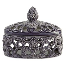 Short Lidded Cutwork Box