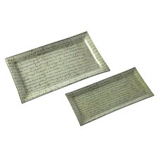 Script Serving Trays (Set of 2)
