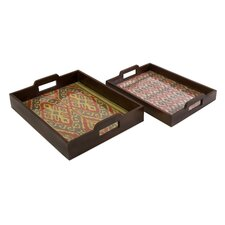 <strong>IMAX</strong> Zyanya Trays (Set of 2)