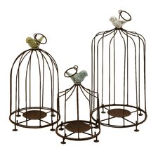 <strong>IMAX</strong> Louise Birdcage Candleholders (Set of 3)