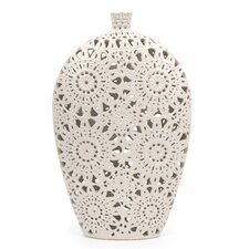 Lacey Floral Pierced Vase