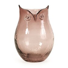 Ambra Small Glass Owl Vase