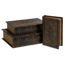 3 Piece Old World Book Box Collection Set