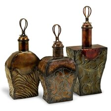 3 Piece Transition Metal Bottle Set