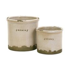 <strong>IMAX</strong> Parsley Herb Pots - Set of 2