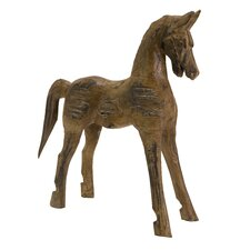 Albazia Wood Carved Horse Statue