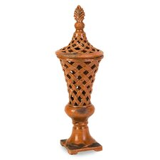 Abner Cutwork Decorative Urn