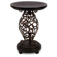 Scroll Base Occasional End Table