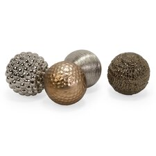 Decorative Ball Sculpture (Set of 4)