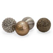 Decorative Ball Sculpture Set (Set of 4)