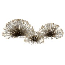 Laserette Wire Flower Wall Décor 3 Piece Set