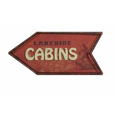 Hartshorn Cabins Arrow Sign