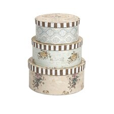 Ella Elaine 3 Piece Hat Boxes Set