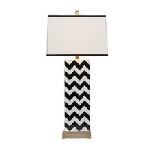 "Chevron Chandler 36"" H Table Lamp with Rectangle Shade"