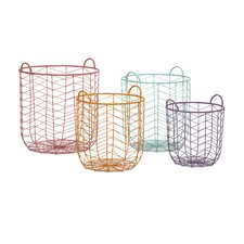 Maya 4 Piece Metal Baskets Set