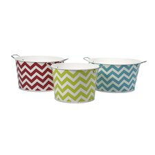 Chevron 3 Piece Round Tubs Set