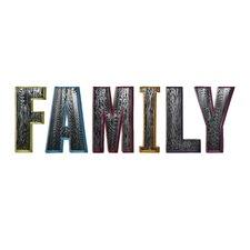 "Mirrored Family 18"" H x 11.5"" W Metal Wall Decor"