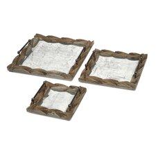 Santiago 3 Piece Wooden Trays Set