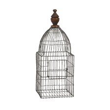 Videle Wire Birdcage with Wood Finial