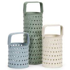 3 Piece Ella Elaina Grater Iron Candle Holders Set