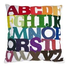Rainbow ABC Throw Pillow