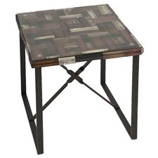 Collins Wood Top End Table