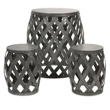 3 Piece Kenwood Braided Table and Stools Set