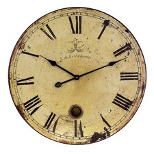 "23"" Large Wall Clock with Pendulum"